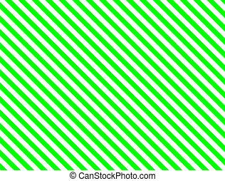 groene, diagonaal streep