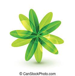 groene, ecologie, concept, blad
