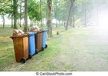 groene, en, schoonmaken, environment.