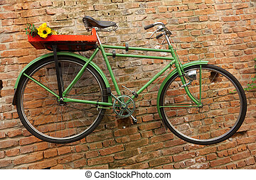 groene, fiets