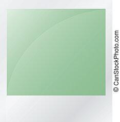 groene, foto, vrijstaand, op wit