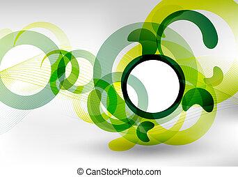 groene, futuristisch, ontwerp