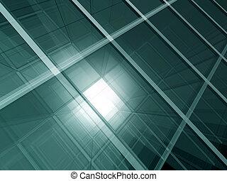 groene, glas, ruimte