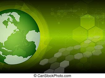 groene, globaal, technologie