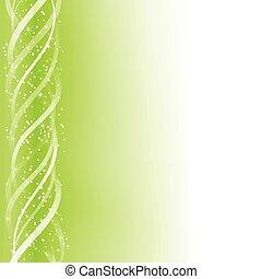 groene, gloeiend, lijnen, kleurrijke, achtergrond.