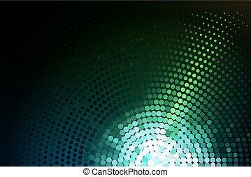 groene, gloeiend, techno, achtergrond