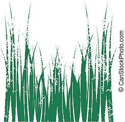 groene, grafisch, gras