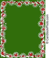 groene, grens, -, kerstmis, guirlande