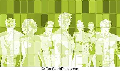 groene handel, abstract, achtergrond