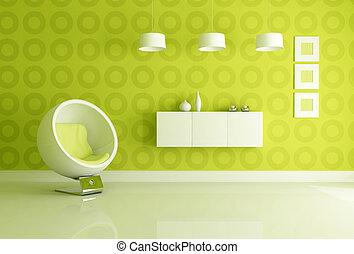 groene, interieur