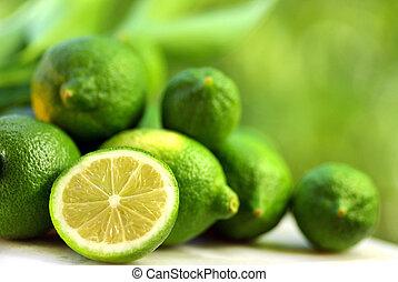 groene, lemons.