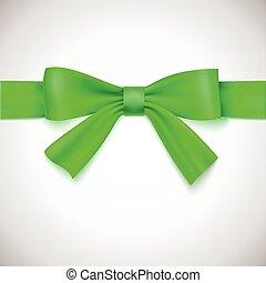 groene, lint, bow.