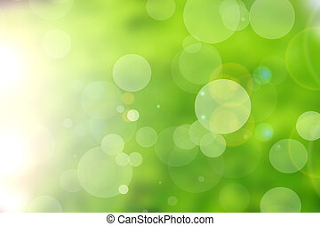 groene, natuur, bokeh, achtergrond, abstract