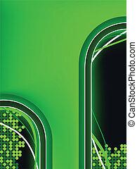 groene, neon, achtergrond, copyspace