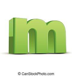 groene, onderkast, gras, m, brief