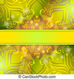 groene, ouderwetse , vector, abstract, achtergrond