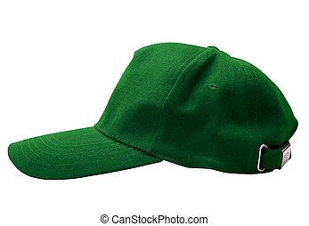 groene pet, honkbal, vrijstaand