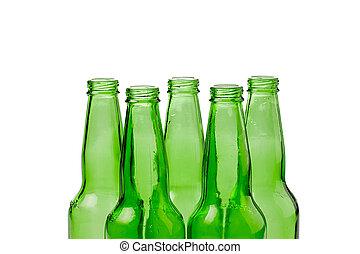 groene, recycling, flessen