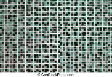 Groene Mozaiek Tegels : Tegels groene mozaïek achtergrond.
