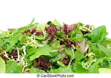 groene salade, achtergrond