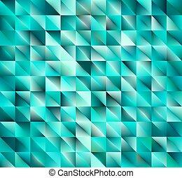 groene samenvatting, glanzend, geometrisch, achtergrond