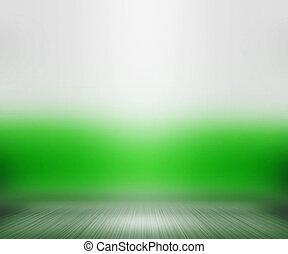 groene, schijnwerper, achtergrond, kamer