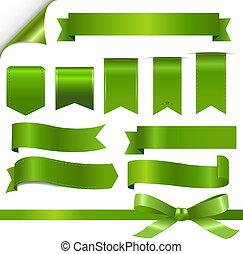 groene, set, linten