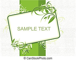 groene, spandoek, illustratie