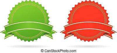 groene, ster, rood, medailles