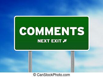 groene, -, straat, comments, meldingsbord