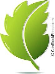 groene, symbool, blad