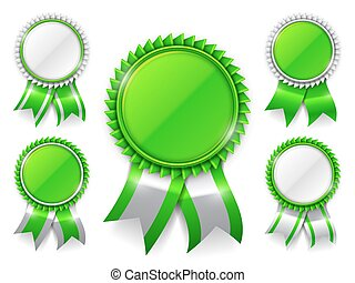groene, toewijzen, medailles