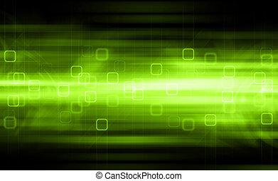groene, vaag, abstract, achtergrond