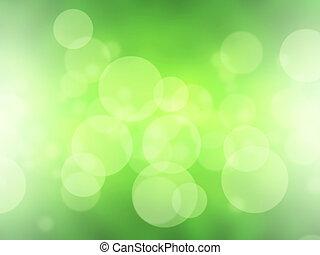 groene, vaag, abstract, licht, bokeh, achtergrond