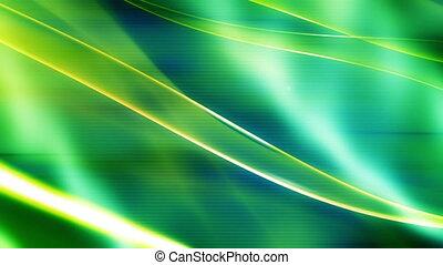 groene, vloeiend, abstract, lus