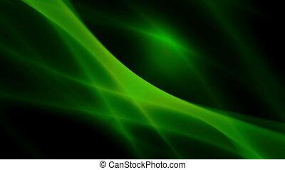 groene, vloeiend, energie, op, black , lus