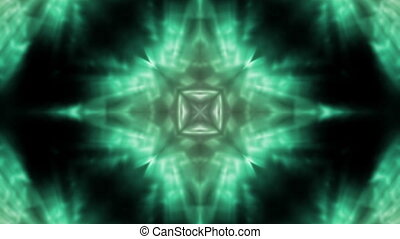 groene, vloeiend, vj, lus, abstract