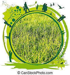 groene, wereld, livable
