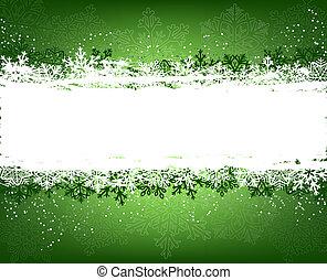 groene, winter, achtergrond