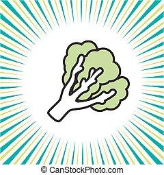 groente, boerenkool, pictogram