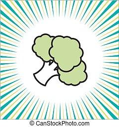 groente, broccoli, pictogram