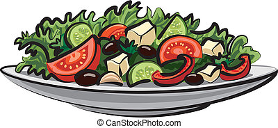 groente, fris, slaatje