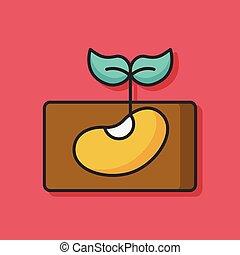 groente, fruit, vector, pictogram