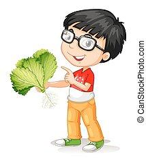 groente, jongen, weinig; niet zo(veel), vasthouden, fris