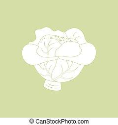 groente, kool, pictogram
