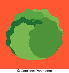 groente, pictogram, vector