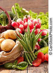 groente, rauwe, fruit