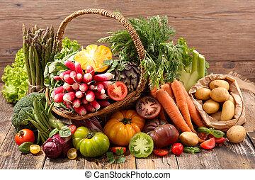 groente, rauwe, geassorteerd