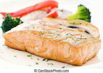 groente, salmon