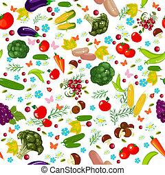 groente, seamless, textuur